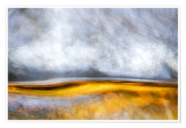 Poster  Abstract Silver and Gold - Sander Grefte