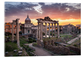 Acrylic glass  Dramatic sunrise at the Roman Forum in Rome, Italy - Jan Christopher Becke