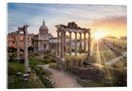 Acrylic glass  Sunset at the Roman Forum in Rome, Italy - Jan Christopher Becke