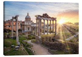 Canvas  Sunset at the Roman Forum in Rome, Italy - Jan Christopher Becke