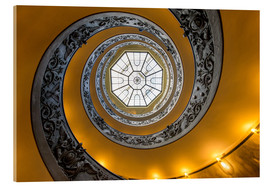 Acrylic print  Spiral staircase in the Vatican Museum, Italy - Jan Christopher Becke