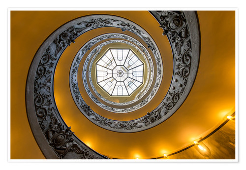 Premium poster Spiral staircase in the Vatican Museum, Italy