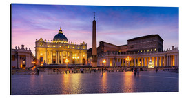 Alu-Dibond  St. Peter's Square and St. Peter's Basilica at night, Rome, Italy - Jan Christopher Becke