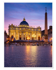 Poster  St. Peter's and St. Peter's Square in Rome, Italy - Jan Christopher Becke