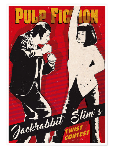 Poster alternative pulp fiction twist contest art