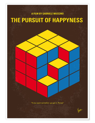 Premium poster No775 My The Pursuit of Happyness minimal movie poster