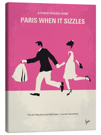 Canvas  No785 My Paris When it Sizzles minimal movie poster - chungkong