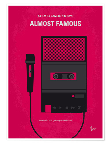 Premium poster No781 My Almost Famous minimal movie poster