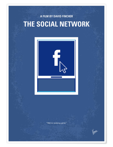Premium poster No779 My The Social Network minimal movie poster