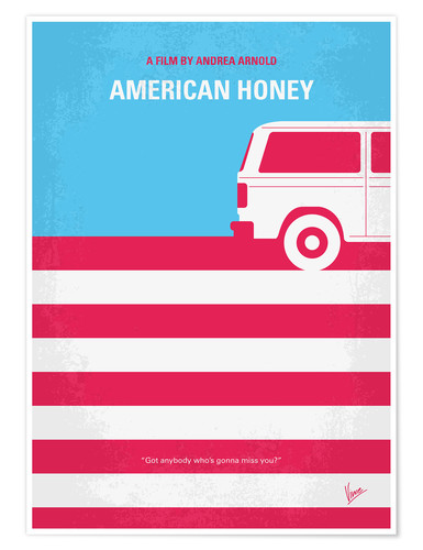 Premium poster No786 My American Honey minimal movie poster