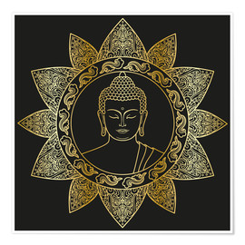 Premium poster  Buddha in golden bloom