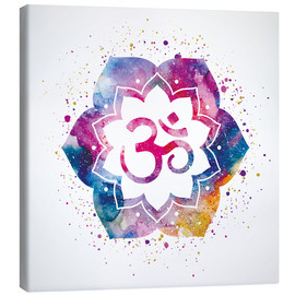 Canvas print  Namaste watercolor flower