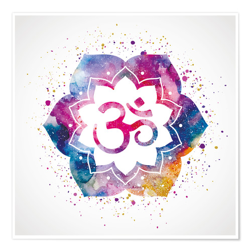 Premium poster Namaste watercolor flower