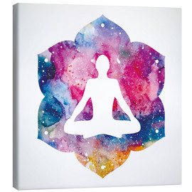 Canvas print  Lotus position Water Color