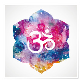 Premium poster Namaste watercolors