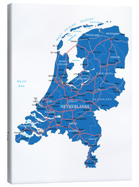 Canvas print  Map Netherlands