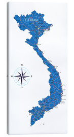 Canvas print  Map of Vietnam