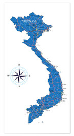 Premium poster  Map of Vietnam