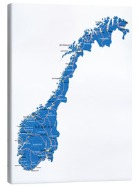 Canvas  Map Norway