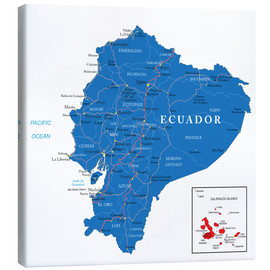 Canvas  map Ecuador