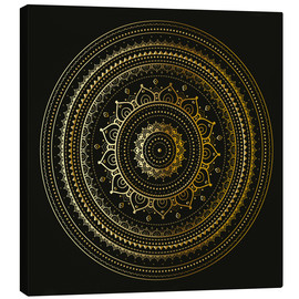 Canvas print  Mandala golden magnificence