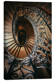Canvas  Spiral staircase with ornamented handrail - Jaroslaw Blaminsky