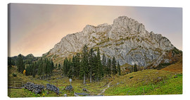 Canvas print  Benediktenwand north side - Michael Rucker