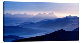 Canvas print  Walchensee with Zugspitze in the evening light - Michael Rucker