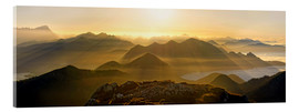 Acrylic print  View from the Benediktenwand in the Jachenau - Michael Rucker