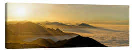 Canvas print  Mountain peak over the clouds - Michael Rucker