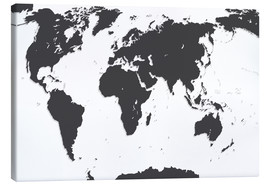 Canvas print  Relief World Map
