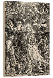 Wood print  The Virgin and Child surrounded by angels - Albrecht Dürer