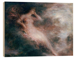 Wood print  The queen of the night - Henri de Fantin-Latour