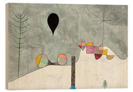Wood print  Winter picture - Paul Klee