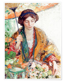 Premium poster Woman with Parasol