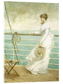Acrylic print  Lady on the Deck of a Ship - French School
