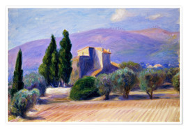 Premium poster Farm House in Provence
