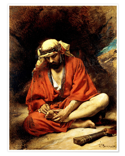 Premium poster An Arab plucking a Thorn from his Foot
