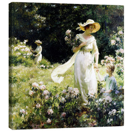 Canvas print  Among the Laurel Blossoms - Charles Courtney Curran