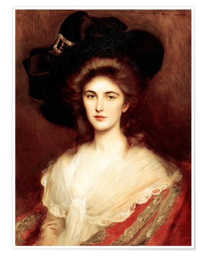 Elegant Lady With A Black Hat Posters And Prints