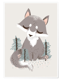 Premium poster  Animal friends - The wolf - Kanzi Lue