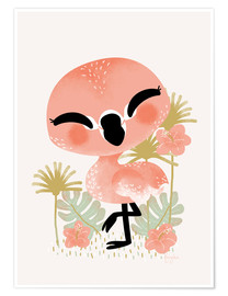 Poster  Animal Friends - The Flamingo - Kanzi Lue