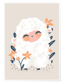 Premium poster  Animal Friends - The sheep - Kanzi Lue