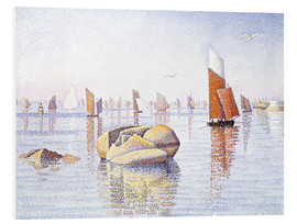 Foam board print  Concarneau, quiet morning - Paul Signac