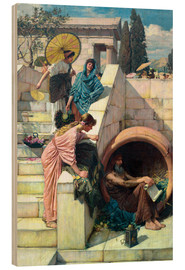 Wood print  Diogenes - John William Waterhouse