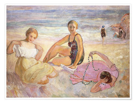 Premium poster Three Women on the Beach