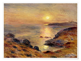 Premium poster  The Setting of the Sun at Douarnenez - Pierre-Auguste Renoir