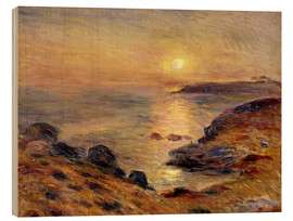 Wood print  The Setting of the Sun at Douarnenez - Pierre-Auguste Renoir