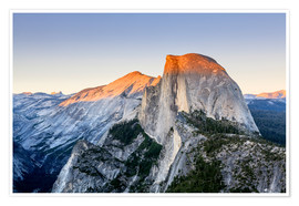 Premium poster Half Dome at sunset