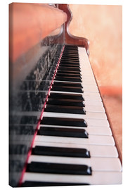 Canvas print  detail old wood piano